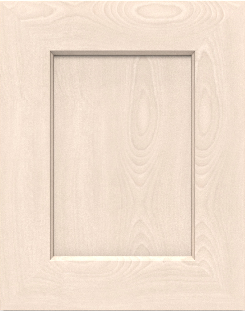 Raw Wood finish on a Miter Shaker-Style cabinet door.
