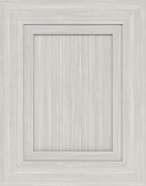 Moscato finish on a mitered recessed panel cabinet door.
