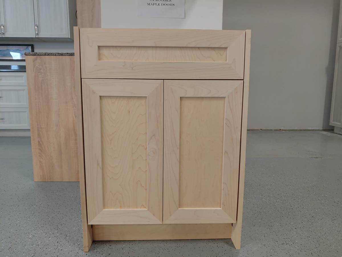 Raw Wood Shaker Cabinet